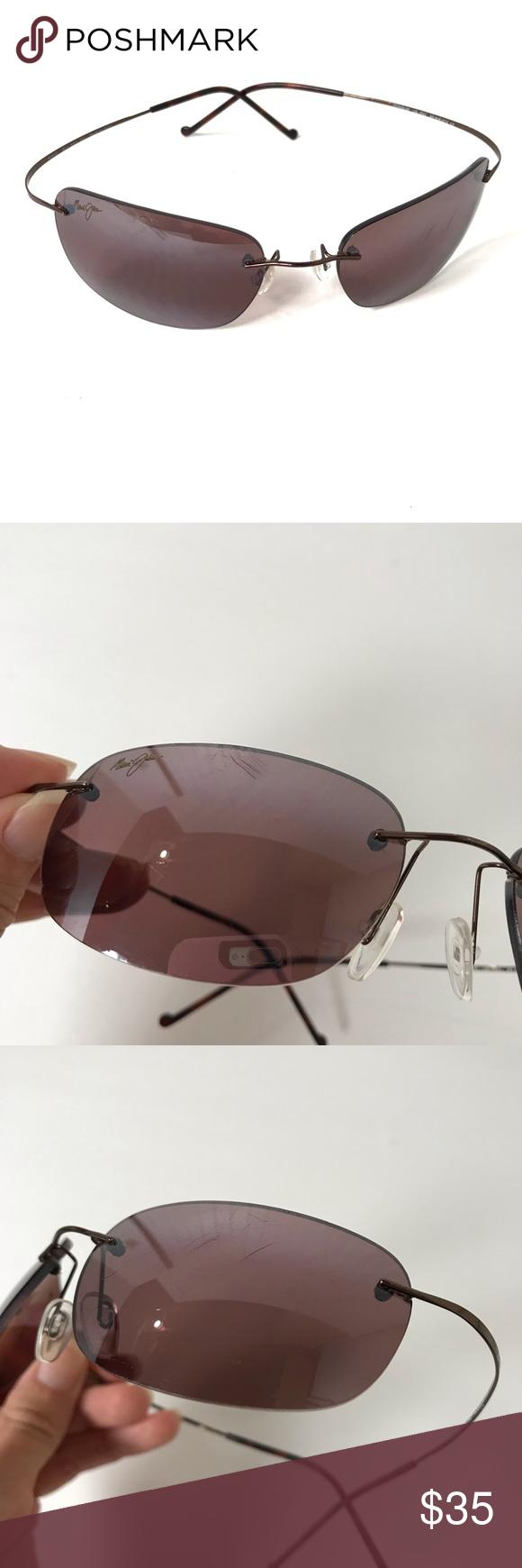 714f67d13eab Maui Jim MJ-502-23 MJ Sport Titanium Sunglasses **PLEASE READ DESCRIPTION