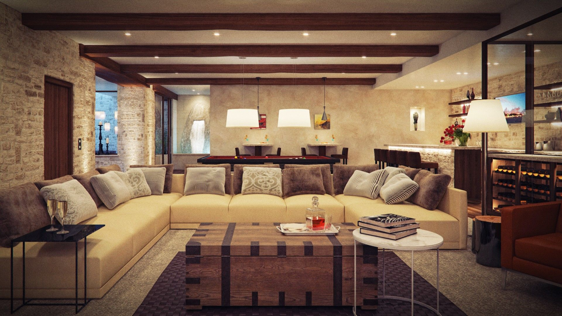 Modern Rustic Living Room Ideas Ideen Zum Streichen Wohnzimmer