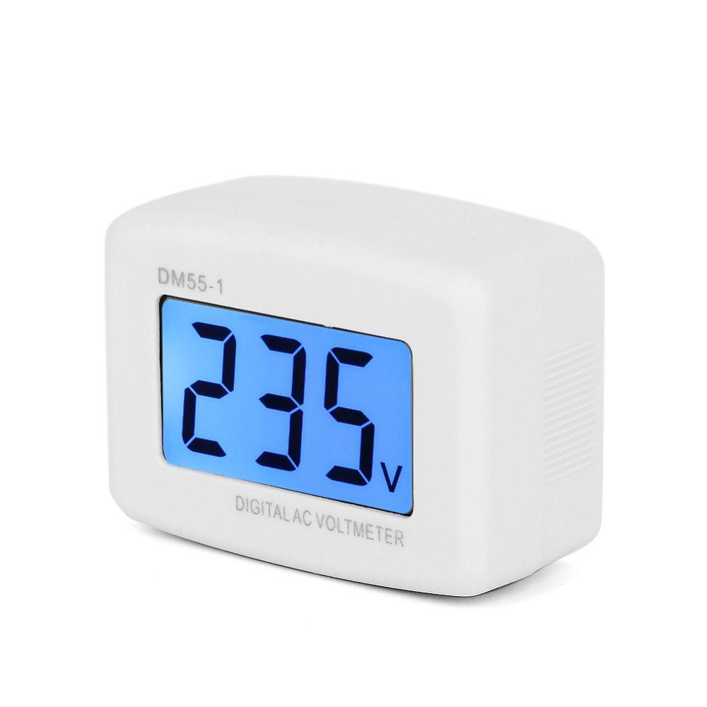 1Pcs DM55-1 110V/220V Household Plug-in LCD Digital AC 80-300V ...