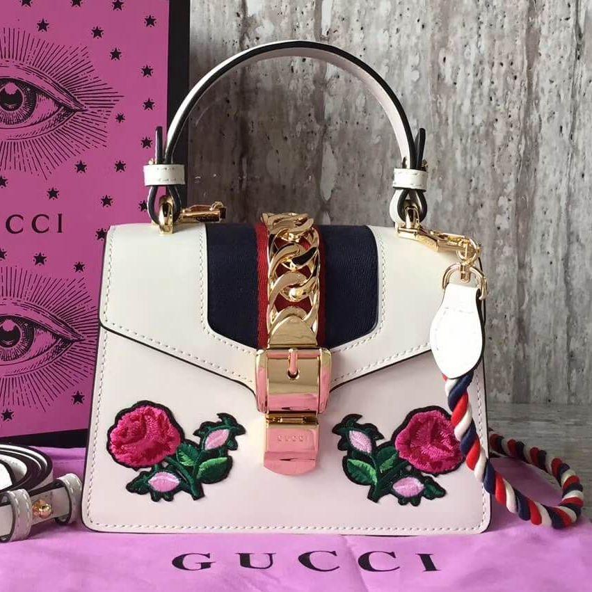 098c3dd4cb0553 Gucci Sylvie Top Handle Mini Bag 100% Authentic 80% Off | Authentic Gucci  Handbags