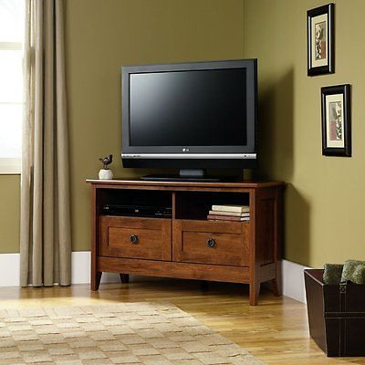 Flat Screen Tv Stands Wooden Table Stand Corner Wood Cabinet Entertainment Furniture Media Oak Room Now Only