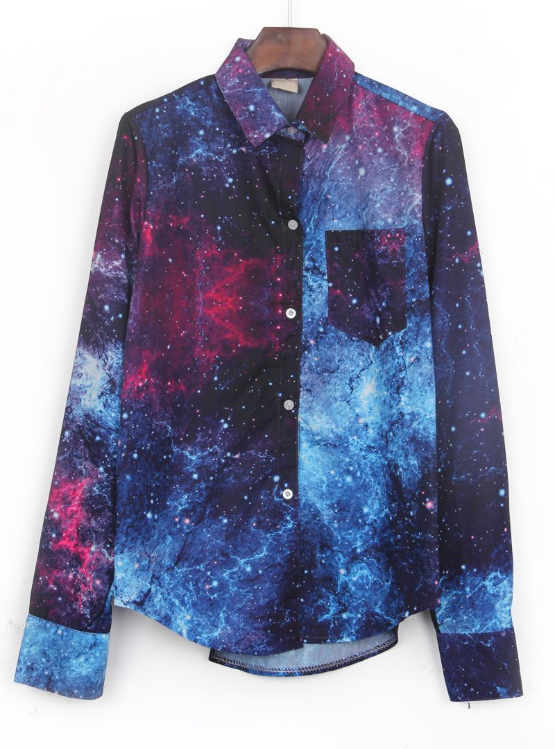 dea323792e932 galaxy + button up = love. | dress us up in 2019 | Galaxy outfit ...