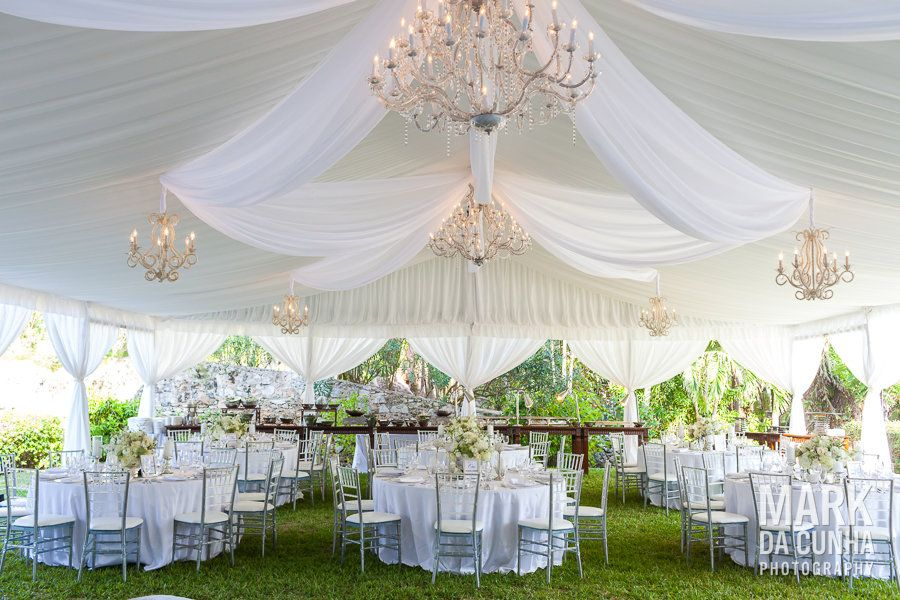 Gorgeous Tented Garden Wedding Reception White Green And Gold