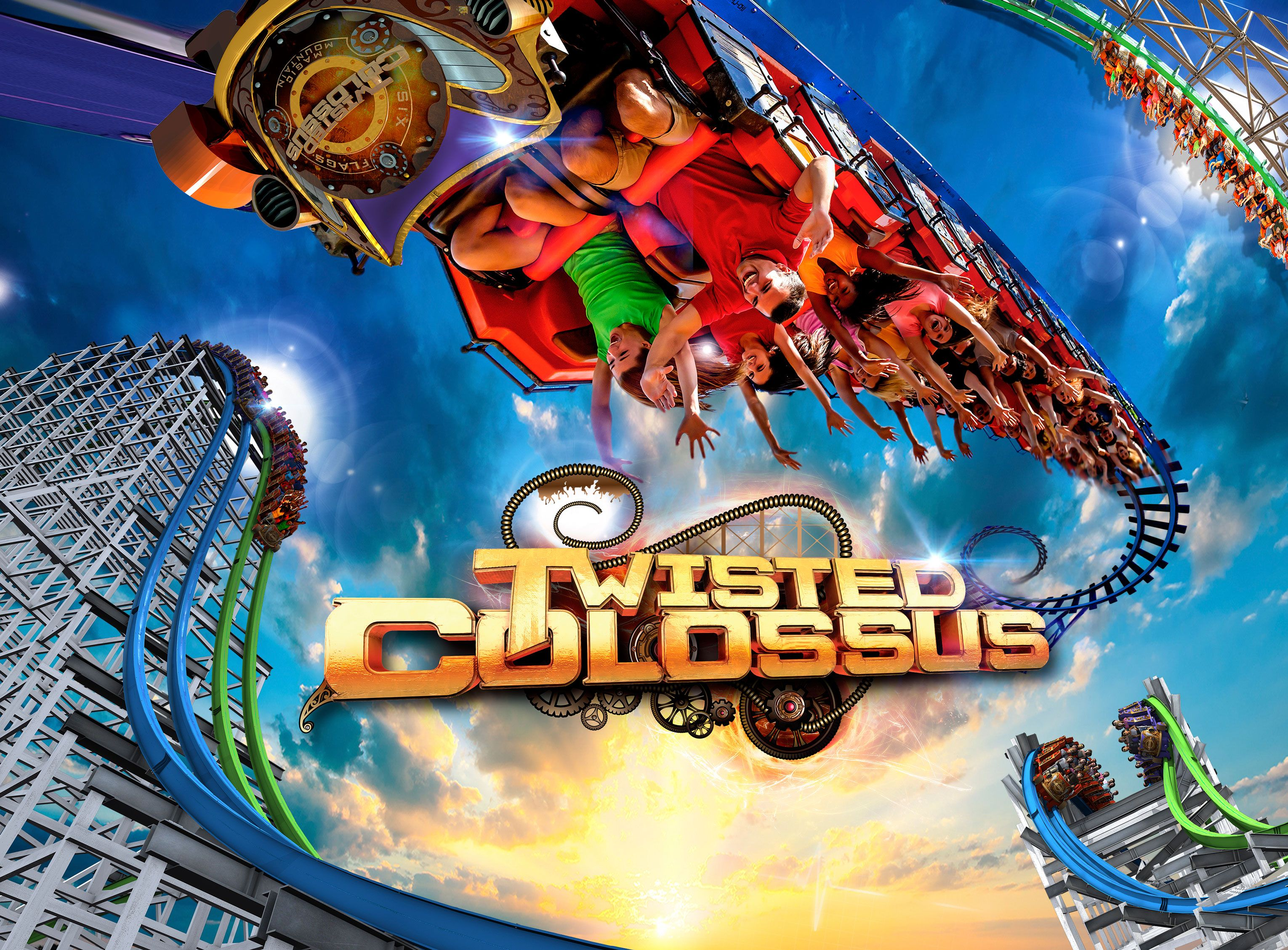 Twisted Colossus New At Six Flags Magic Mountain Spring 2015 Six Flags New Roller Coaster Thrill Ride