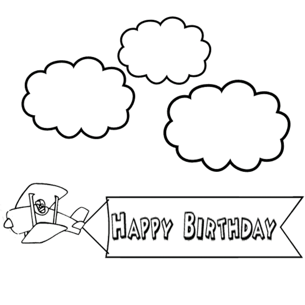 Elmo coloring pages birthday balloon ~ Happy Birthday Coloring Pages For Kids - coloring ...