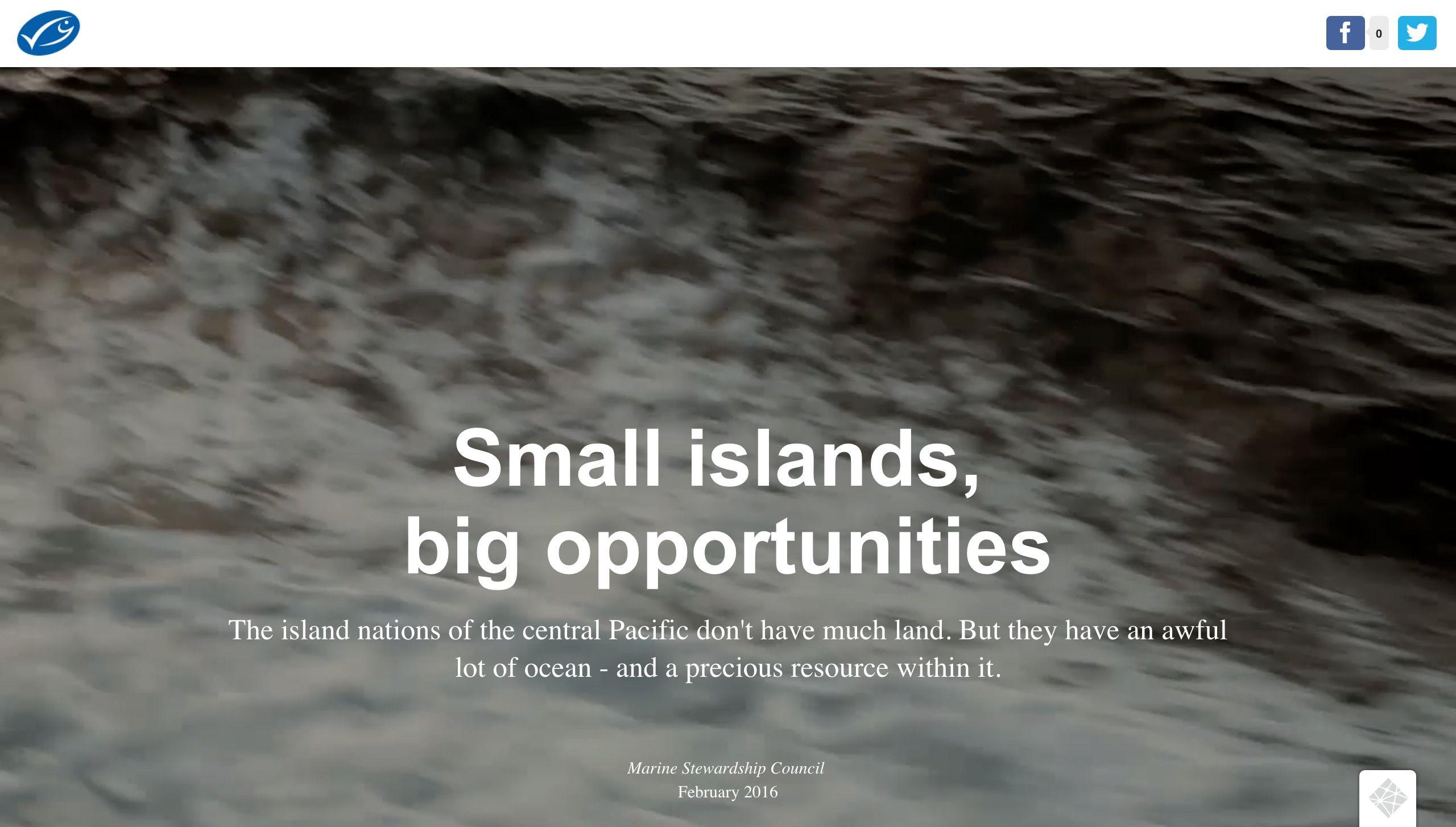 Small islands, big opportunities, MSC