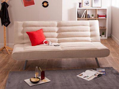 canap clic clac tissu dossier matelass pieds m tal mathilda au salon pinterest. Black Bedroom Furniture Sets. Home Design Ideas