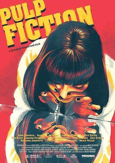Fiction Poster By Hugh L Boyd Pulp Fiction Movie Poster Art Vintage Pop Art