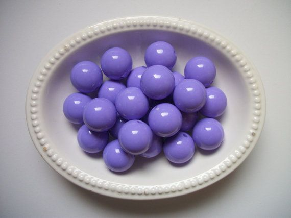 Chunky Bubblegum Beads 10ct 20mm Purple by TheBeadSupplyShoppe, $1.99
