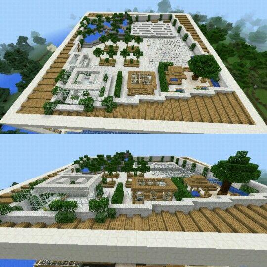 Terraza De Casa Moderna Minecraft Minecraftpe Games Easy Minecraft Houses Minecraft Plans Minecraft Horse