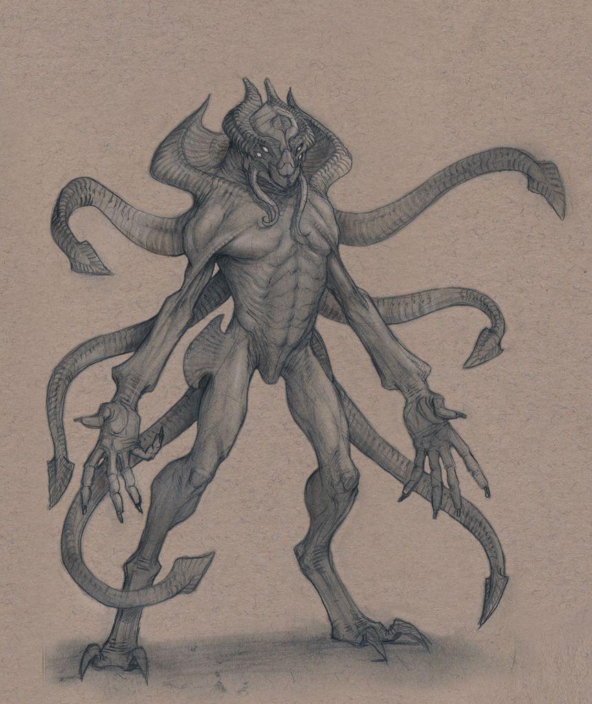 Tentacle Alien by Mavros-Thanatos.deviantart.com on @deviantART