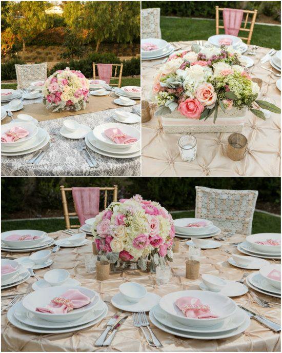 18 Hochzeitstafel Hochzeit Dekoration Tisch Rosa Mint Gruen