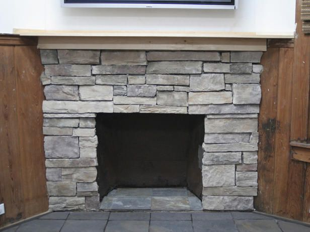 How to cover a brick fireplace with stone home painted - How to cover brick fireplace ...