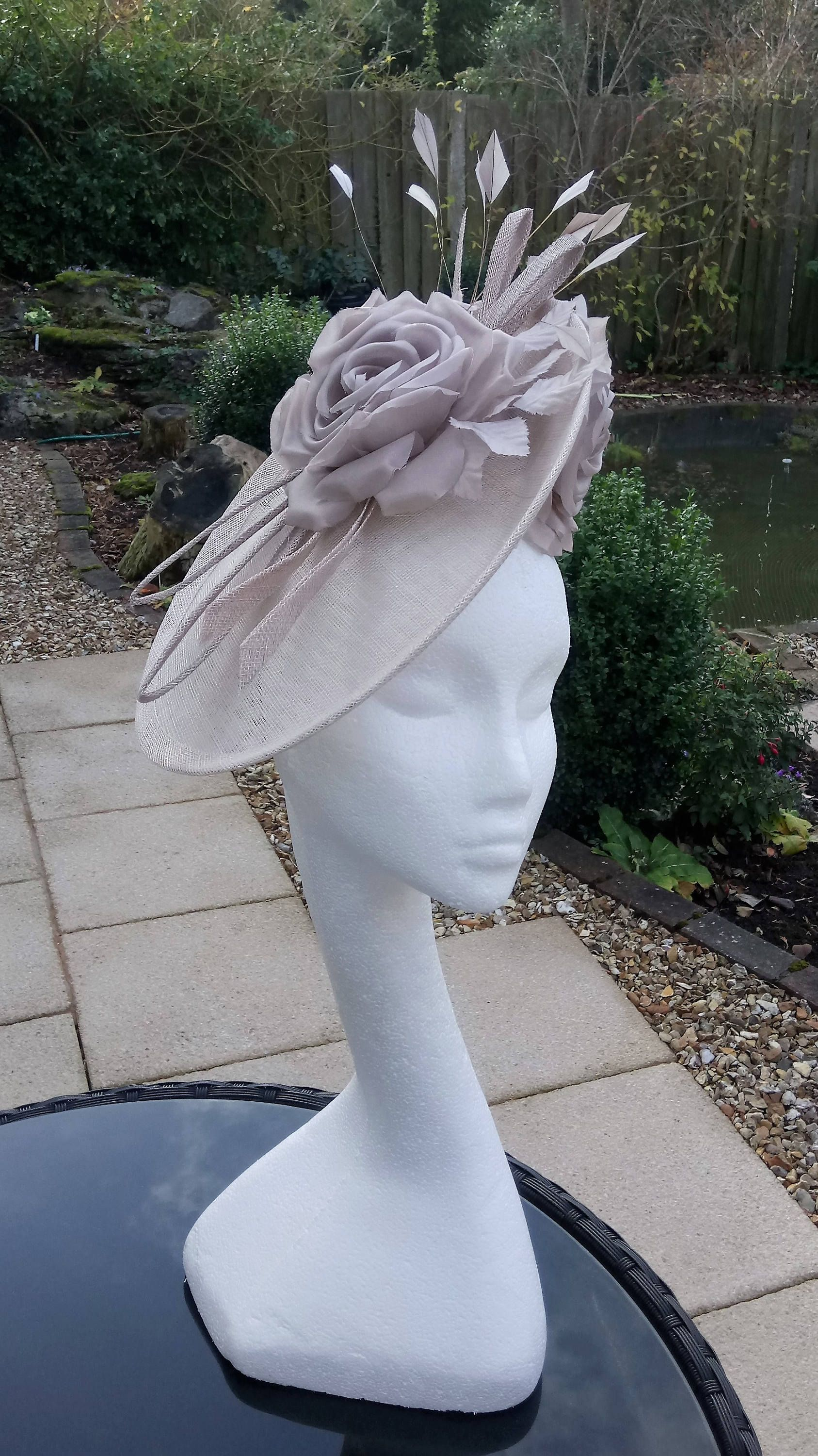 Ivory Veil Fascinator Hat Alice Band Wedding Formal Royal Ascot Races Ladies Day