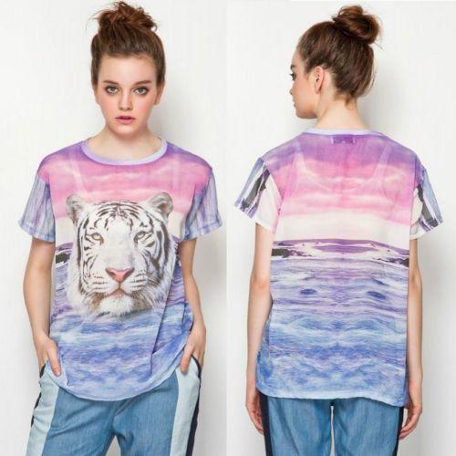 Womens-Fashion-Transparent-Tiger-Sea-Print-Chiffon-Short-Sleeve-T-Shirt-B5718
