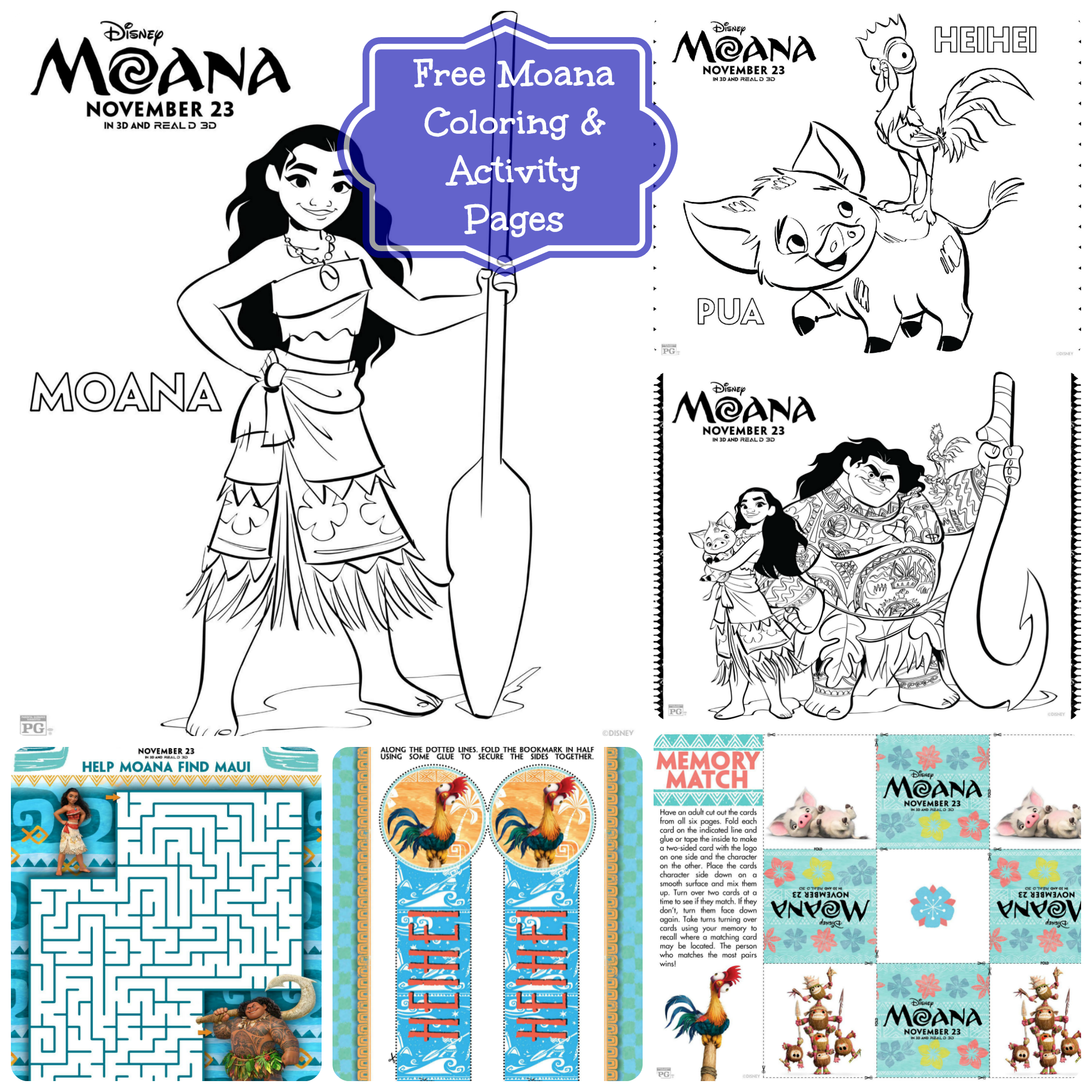 Free Disney S Moana Coloring Pages Amp Activity Sheets
