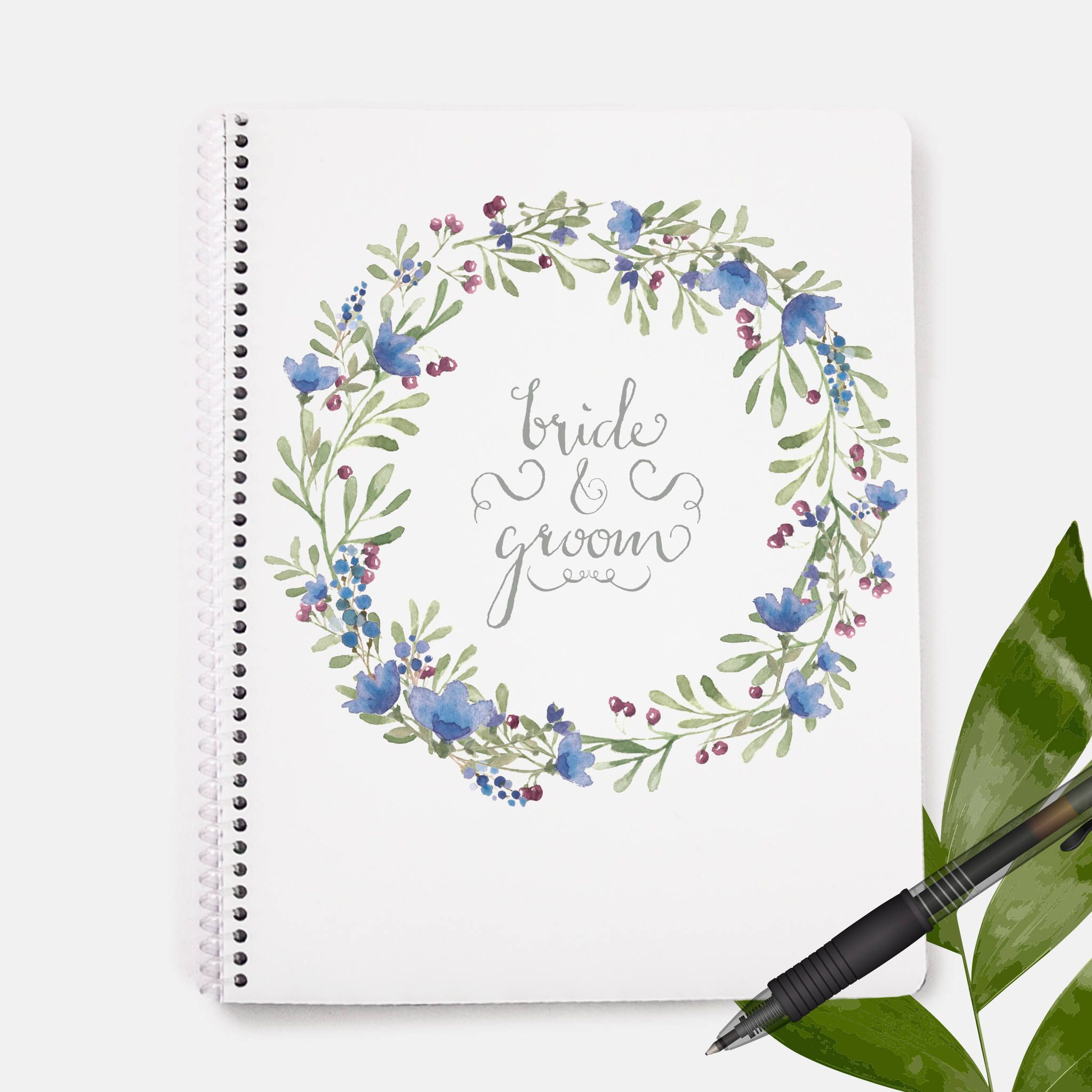 Bride and Groom Notebook| Bachelorette Gift | Bride Gift | Wedding ...