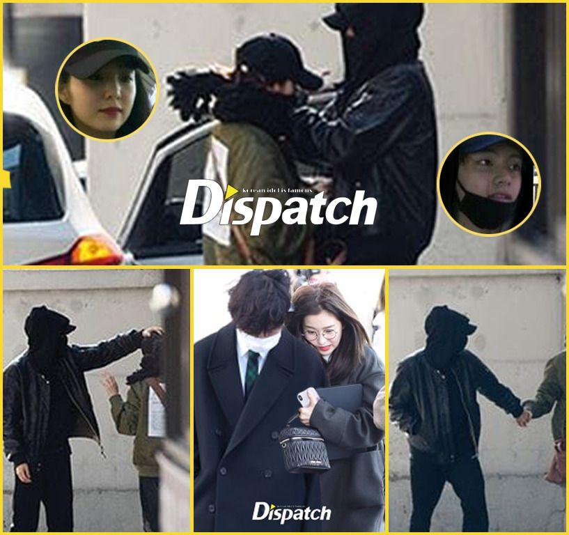 Btsvelvet Taehyung Irene Vrene Dispatch Kpop Couples Couple Wallpaper Relationships Songsong Couple