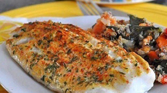 Рыба запеченная с горчицей