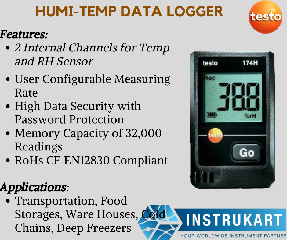 Testo 174h Mini Data Logger Buy Temperature And Humidity Data Logger Data Logger Temperature And Humidity Data