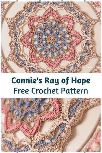 Amazing Crochet Mandala Wall Hanging Free Pattern #crochetmandalapattern