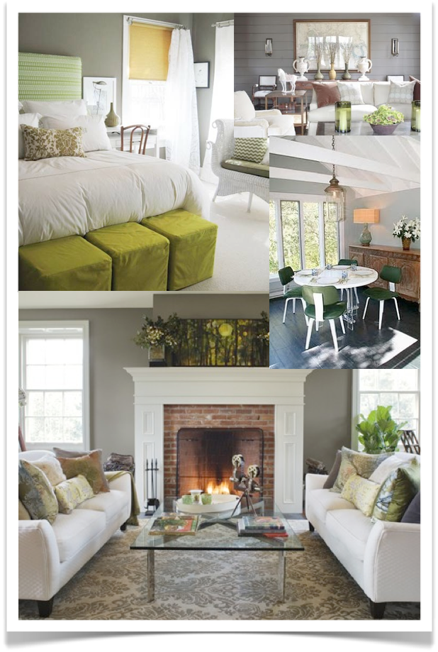 GREEN GREY A Flexible Look For The No House Is Ever Gray RoomsGrey WallsRoom