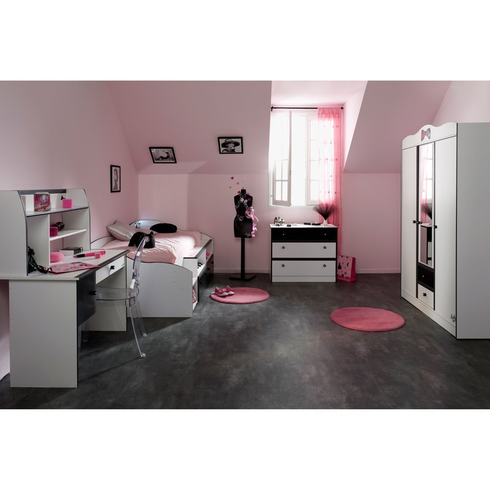 kinderzimmer komplett weiss auf ist perfekt f r heranwachsende m dchen in wei. Black Bedroom Furniture Sets. Home Design Ideas