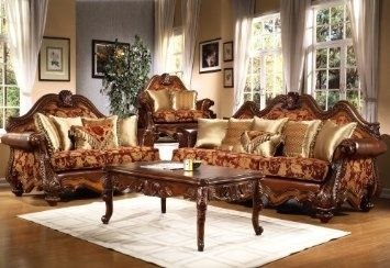 Traditional Collection Living Room Set Sofa Love Seat And Chair