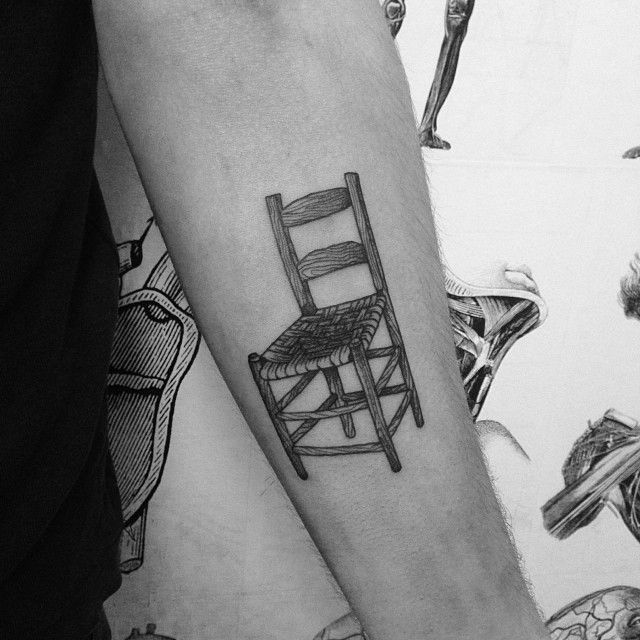 Wooden Chair Tattoo Places To Get Tattoos Tattoos Watch Tattoos