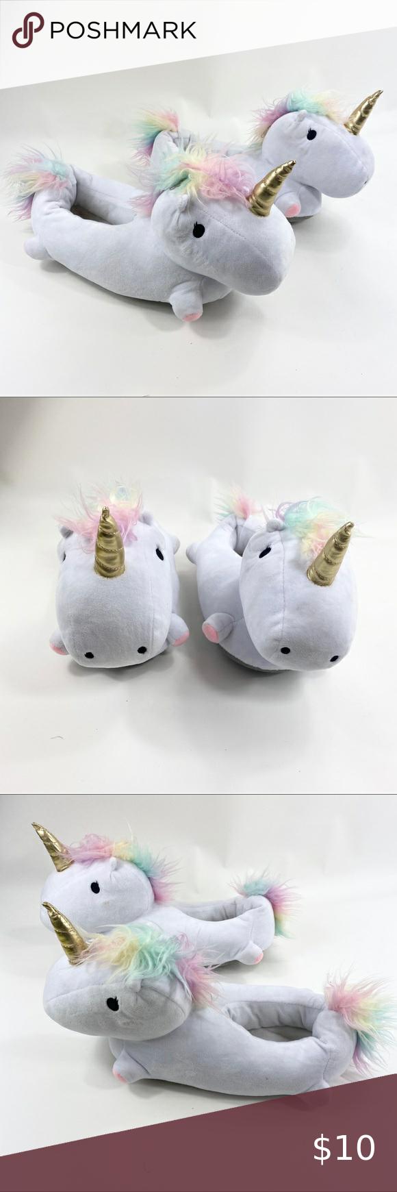❤️5/$25❤️ Unicorn Slippers | 8 Women's