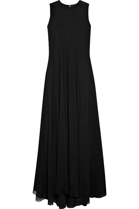 Plain Long Black Dress W A N T S Dresses Style Fashion Outfits