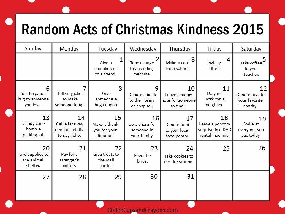 Advent of Christmas kindness Christmas Pinterest Hannukah and