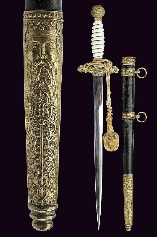 A navy officer's dagger, dating: second quarter of the 20th Century  provenance: Yugoslavia