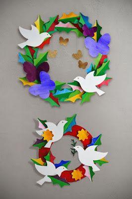 Actividades Para Educación Infantil 7 Manualidades Para El Día De La Paz Escolar 2020 In 2020 Peace Crafts Remembrance Day Art Paper Wreath