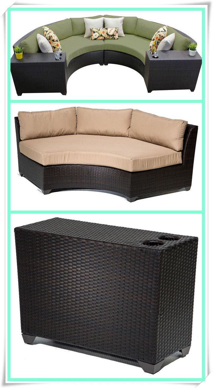rattan half moon sofa set lazy boy briggs reclining reviews outdoor furniture modern design with cup table view shine international group limited product details from