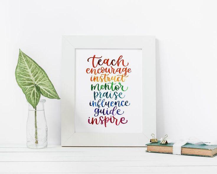Mentorteacher appreciation art print gift for teacher