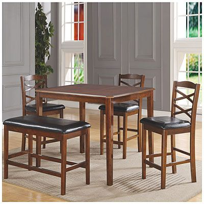 5 Piece Wooden Pub Set With Bench At Big Lots