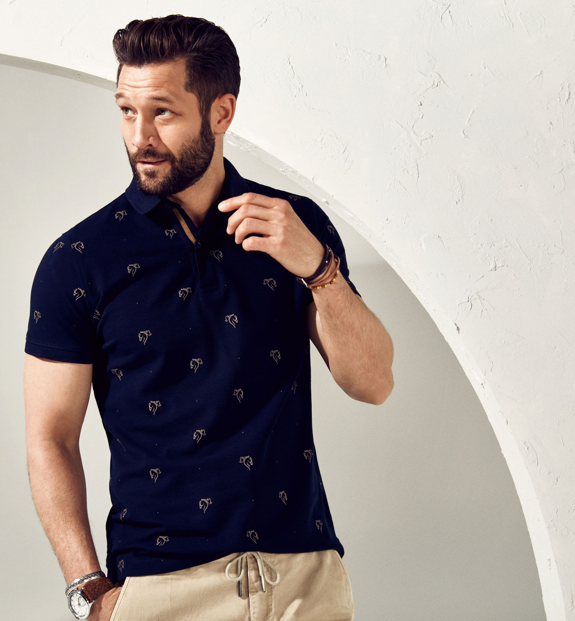 Limited Edition Equestrian Print Polo Shirt Ref0727252 Playbook