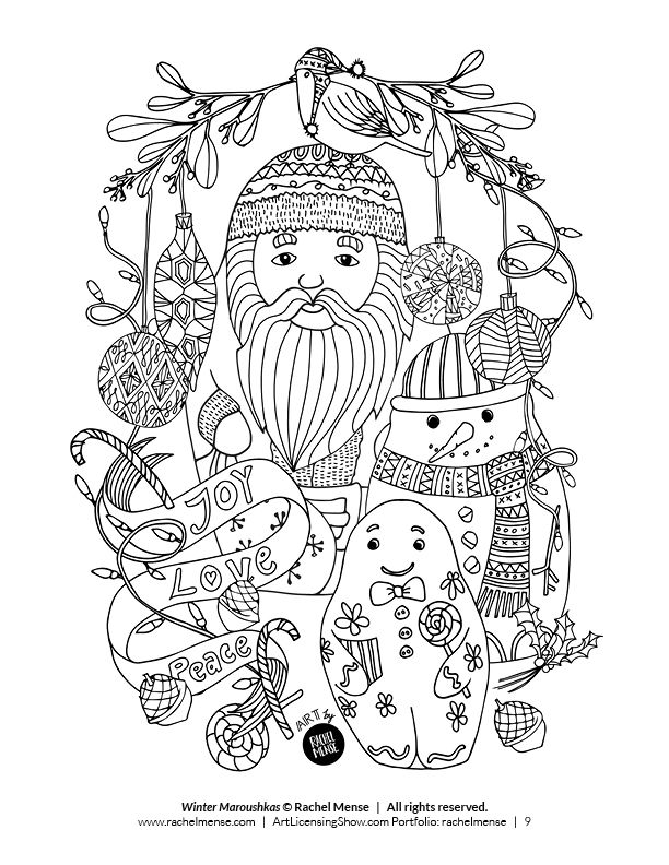 Download 92 Holiday Coloring Pages For Free The Artists Of ArtLicensingShow Are Excited To Share With You Their Book Sampler