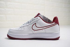 54a6a91c3a221a Mens Womens Nike Air Force 1  07 Leather White Team Red AJ7280 100 Sneakers