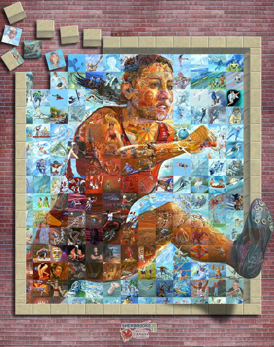 Mosaic Tile Murals Sports Mural M U R I S