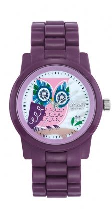 Purple Owl Watch.. made with corn resin  instead of synthetic plastic