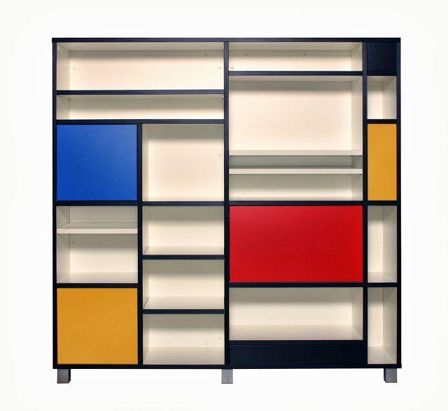 the style index mondrian inspired bespoke bookcase furniture rh pinterest com