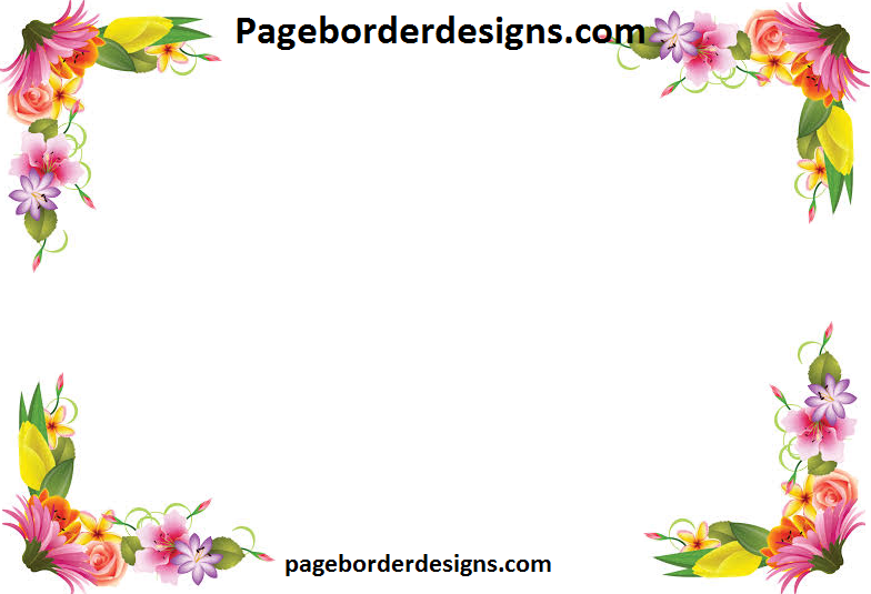 Yellow And Pink Flowers Border Design 2016 Sadiakomal Border