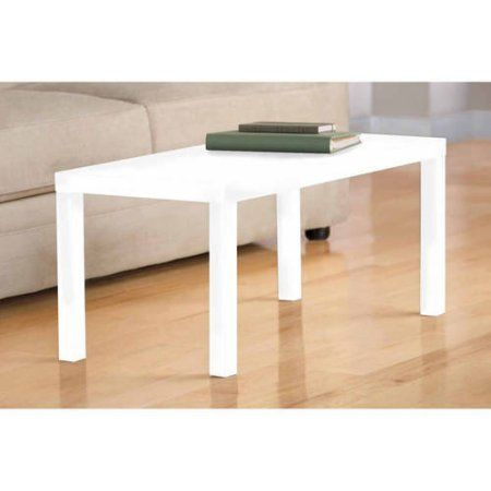 Mainstays Parsons Coffee Table Multiple Colors Walmart Com Coffee Table White Coffee Table Sleek Coffee Table
