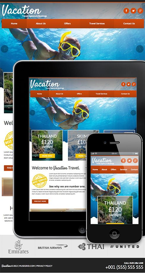 The Vacation Travel Agency Template from museGrid comes with a 100 - vacation tracking template