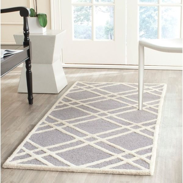 Safavieh Handmade Moroccan Cambridge Silver Ivory Wool Rug 2 6 X At O