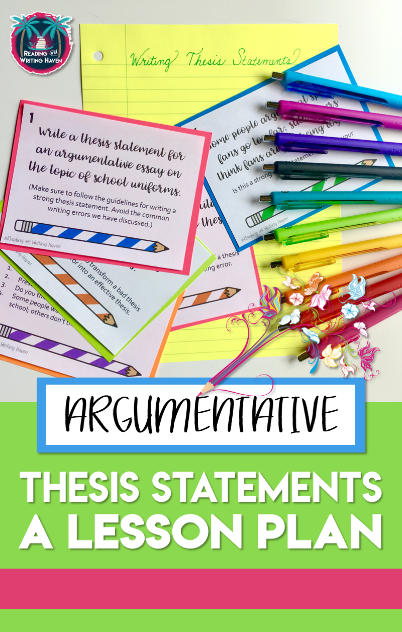 thesis statements for high schoolers