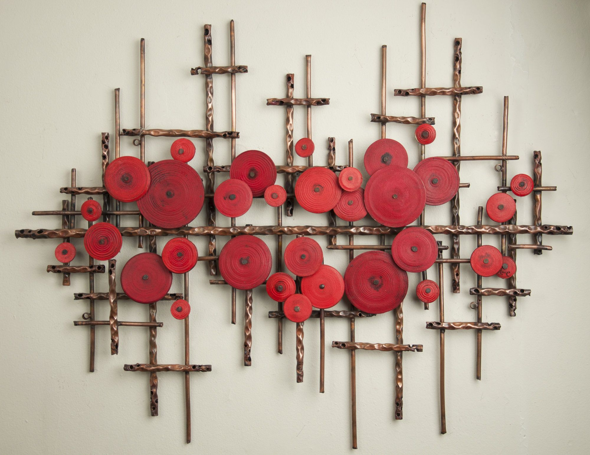 Ripples in Red by Hannie Goldgewicht MixedMedia Wall Sculpture  Artful Home
