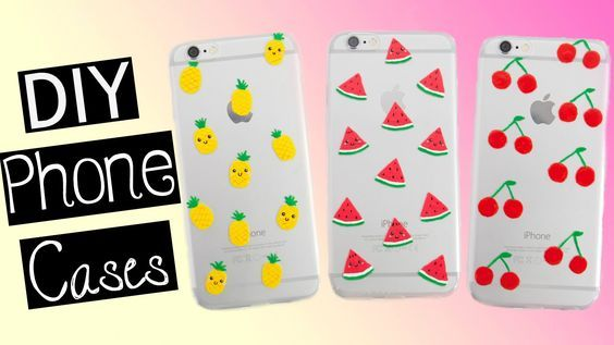 hot sale online f5ab0 f9dfd DIY FRUIT PHONE CASES | Pineapple, Watermelon & Cherry | art crafts ...
